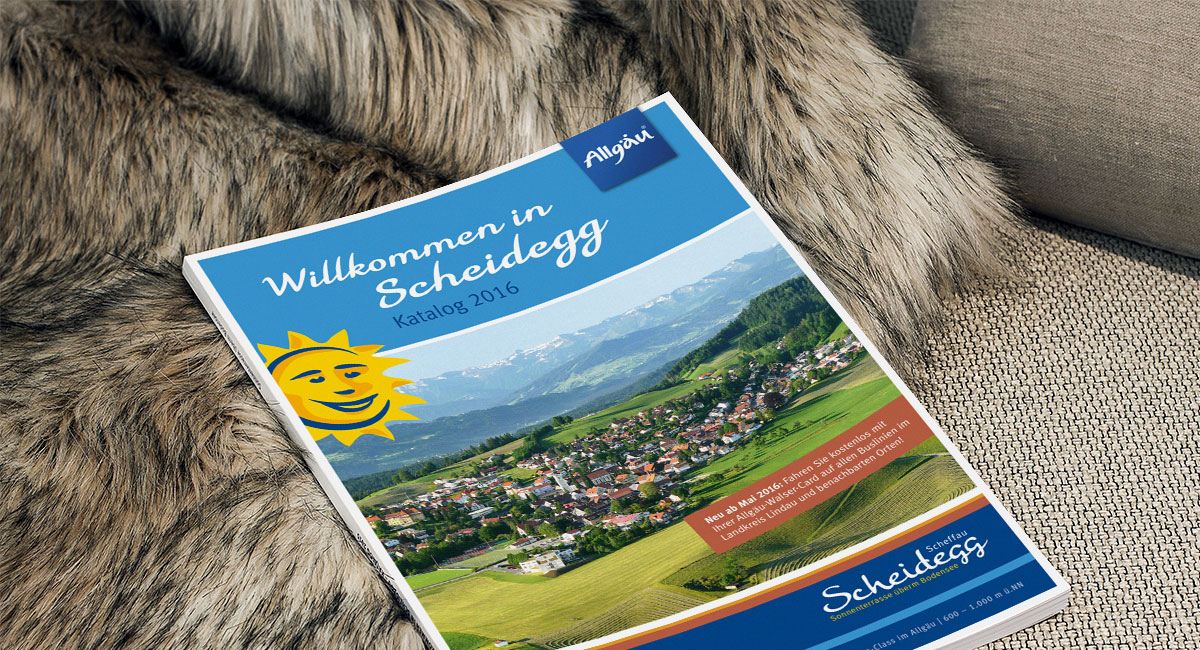 Marketing-Kommunikation für die Marktgemeinde Scheidegg